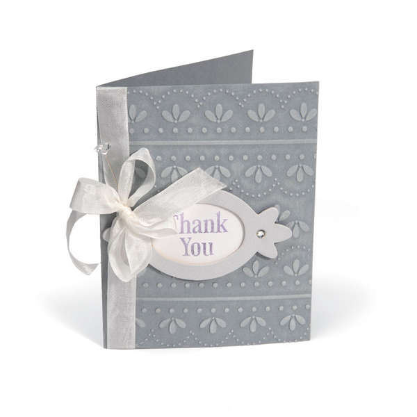 Embossed Thank You Frame Card by Beth Reames