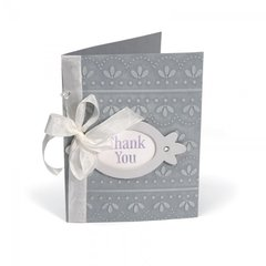 Embossed Thank You Frame Card