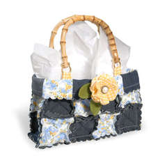 Denim & Posies Scalloped Square Purse by Debi Adams