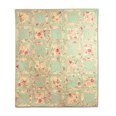 Rose & Green Floral Robbing Peter to Pay Paul Quilt by Cheryl Adam, Guest Quilter