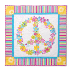 Flower Power Peace Sign Wall Hanging by Stacy Surina-Bonora, Guest Quilter