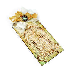Embossed Birdcage Tag by Beth Reames
