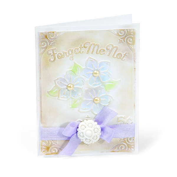Embossed Forget Me Not by Beth Reames