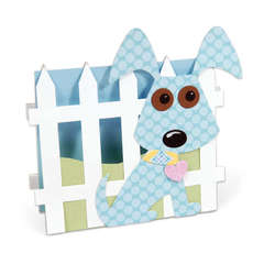 Dog & Fence Card by Debi Adams