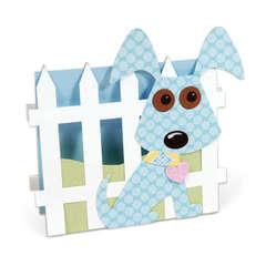 Dog & Fence Card by Debi Adams