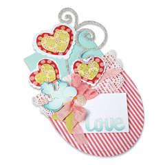 Love Hearts & Bird Pocket by Debi Adams