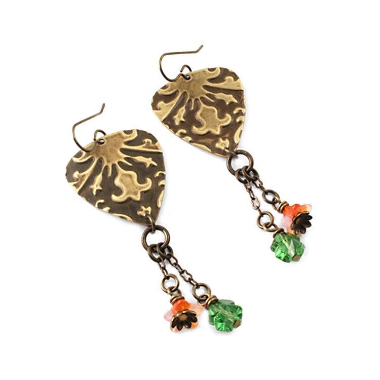 Draped Lilies Earrings by Jess Italia Lincoln