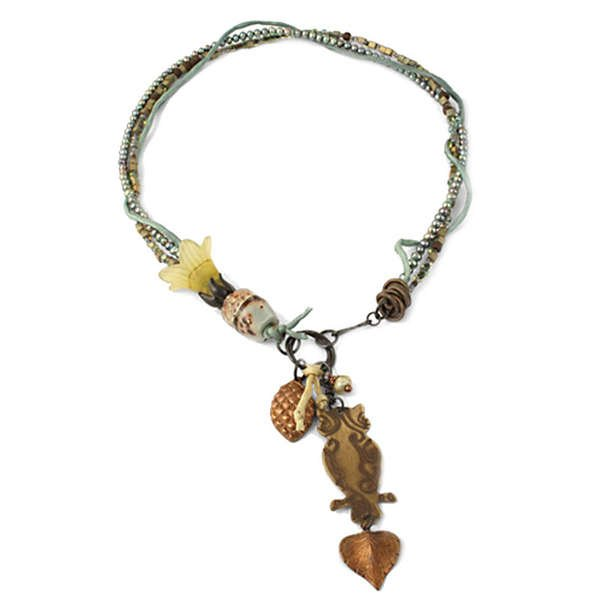 Wooded Bloom Necklace by Jess Italia-Lincoln