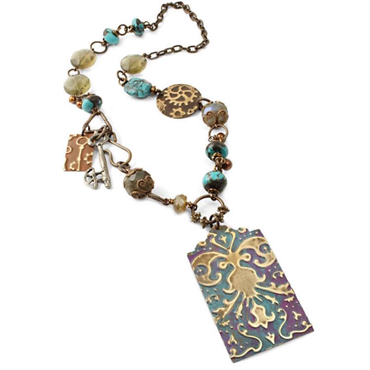 Damask Steampunk Necklace by Mackenzie Mullane