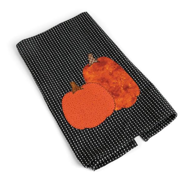 Pumpkins Tea Towel by Linda Nitzen
