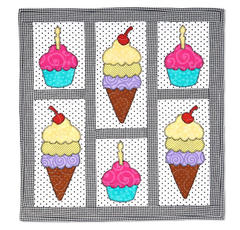 Sweet Treats Wall Hanging by Linda Nitzen