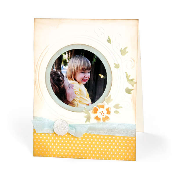 Embossed Circle Frame by Cara Mariano