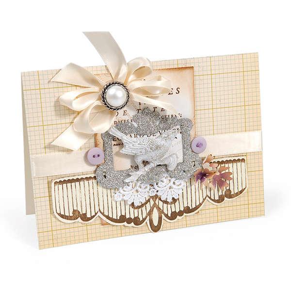 Embossed Scallop Edging Card by Debi Adams