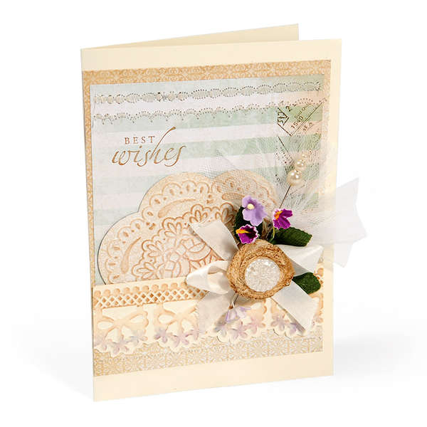 Embossed Best Wishes by Debi Adams