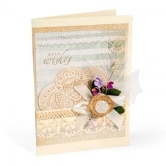 Embossed Best Wishes Card