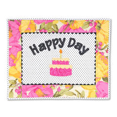 Happy Day Wall Hanging by Linda Nitzen