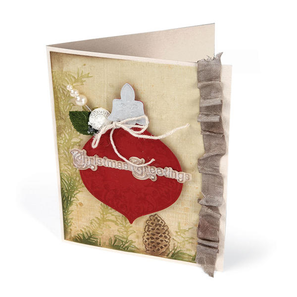 Embossed Christmas Greetings by Deena Ziegler