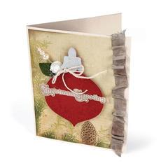 Embossed Christmas Greetings by Deena Ziegler