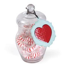 Holiday Heart Candy Jar by Deena Ziegler