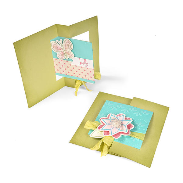 Hello Butterfly Square Flip-it by Cara Mariano