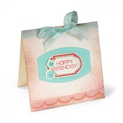 Happy Birthday Layered Labels Card by Cara Mariano