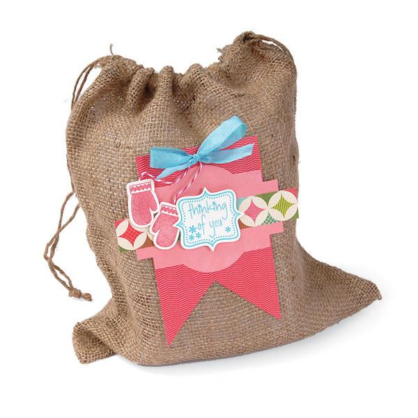 Thinking of You Burlap Gift Bag by Cara Mariano