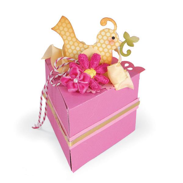 Bird Decorative Cake Box by Debi Adams