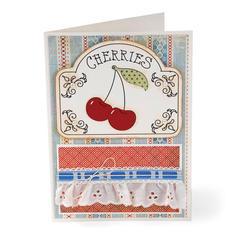Vintage Cherries by Deena Ziegler