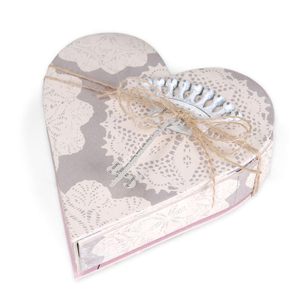 Crown & Key Heart Box by Beth Reames