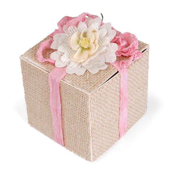 Burlap Covered Box by Beth Reames