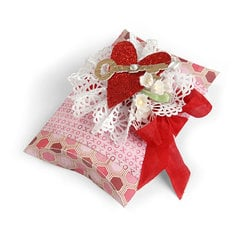 XOXO Key To My Heart Pillow Box by Debi Adams