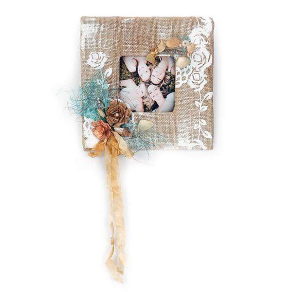 Burlap Frame by Debi Adams