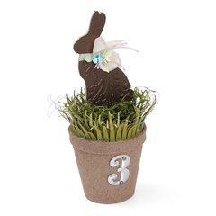 Spring Bunny Table Number Planter by Debi Adams