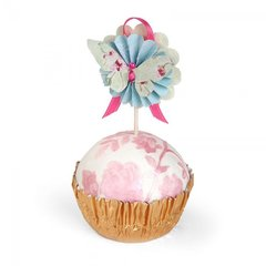 Butterfly Medallions Cupcake Topper