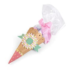 Ribbon Buckle Treat Cone by Brenda Walton