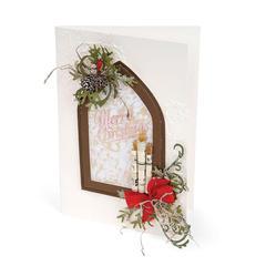 Merry Christmas Window by Debi Adams
