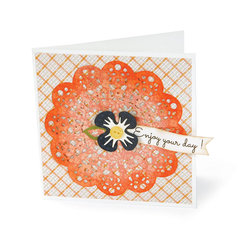 Enjoy Your Day Doily Card by Deena Ziegler