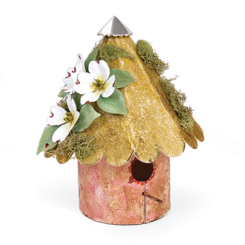 Dogwood Embellished Birdhouse by  Susan Tierney-Cockburn