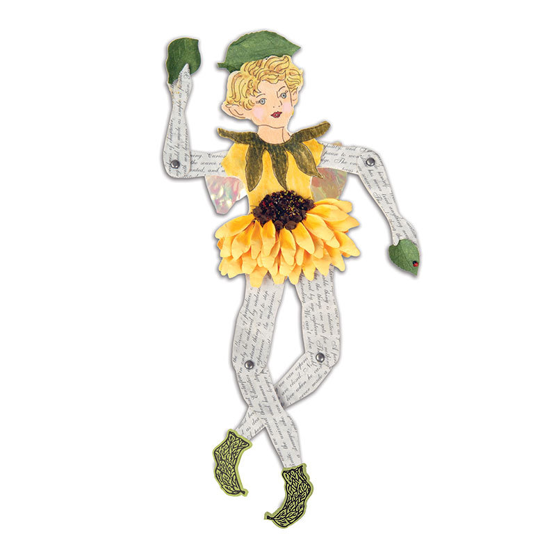 Fairy with Sunflower Dress by Susan Tierney-Cockburn