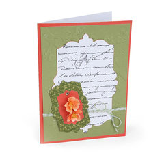 Flowering Quince & Labels Card by Susan Tierney-Cockburn