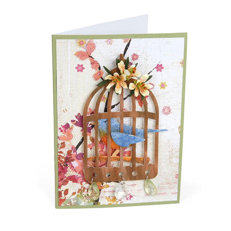 Mini Lilies & Birdcage by Susan Tierney-Cockburn