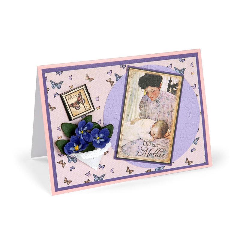 Dearest Mother Violets Card by Susan Tierney-Cockburn