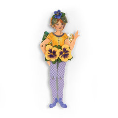 Fairy with Pansy Dress by  Susan Tierney-Cockburn