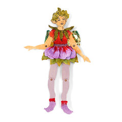 Fairy with Hibiscus Dress by Susan Tierney-Cockburn