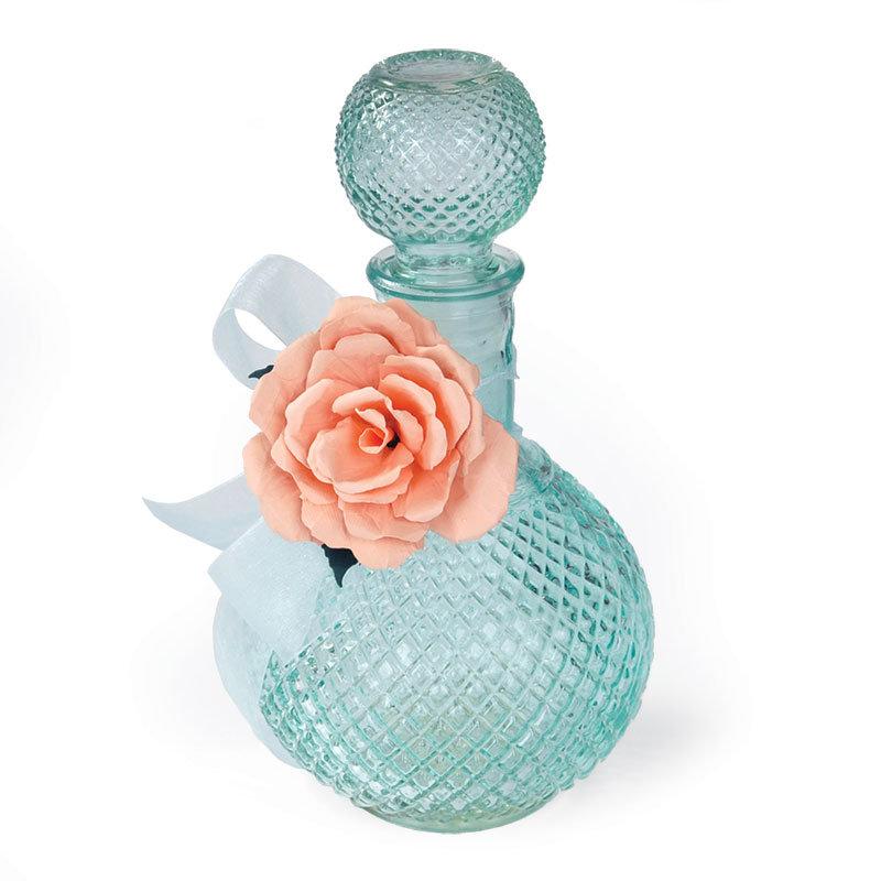 Rose Embellished Bottle by Debi Adams