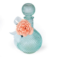 Rose Embellished Bottle by Debi Adams