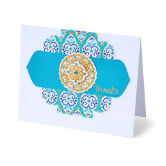 Exotic Floral Thanks Card by Cara Mariano