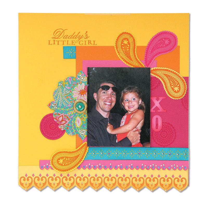 Happy Moments Scrapbook Page by Debi Adams