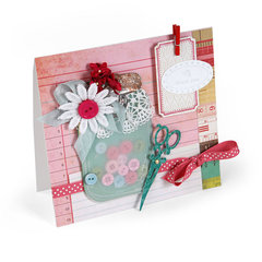 Sewing Supplies Card by Debi Adams