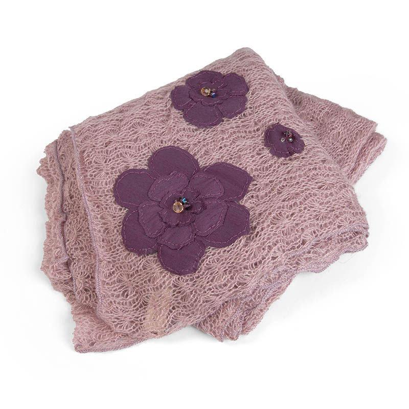 Embellished Flower Shawl